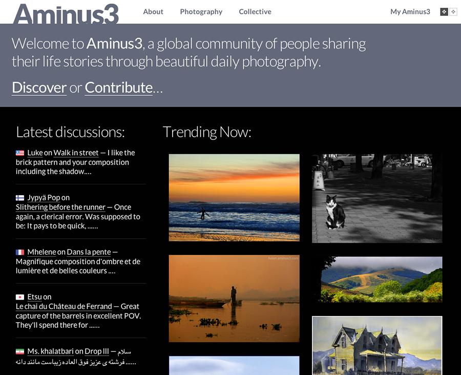screenshot home page
